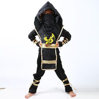 Black Ninjago Cosplay Costume Boys Clothes Set Children Ninja Superhero Suit - Black Ninjago Costume