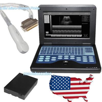 Contec Portable Ultrasound Scanner Laptop Machine3.5m Cardiac Probe Ce Fda Hot