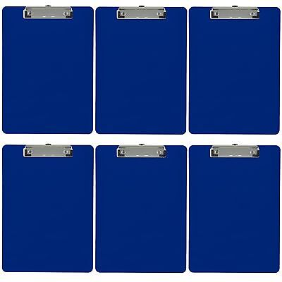 Plastic Clipboard Opaque Letter Size Low Profile Clip Pack Of 6 Dark Blue