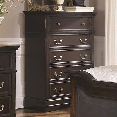 Coaster-203195-Cambridge 5 Drawer Chest with Bracket Feet New Cambridge 5 Drawer Chest