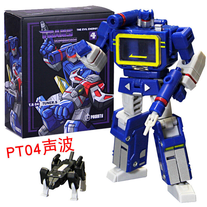 Transformers PocketToys PT04 Sound wave With 3 tapes Pocket series in stock