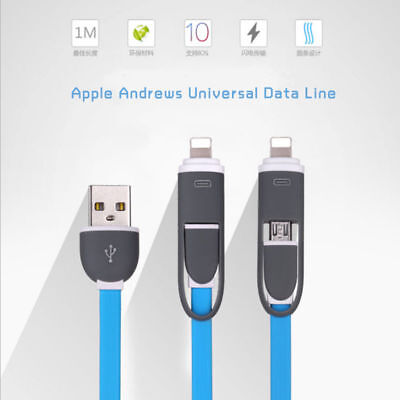 2 in 1 Sync Data Charging USB Cable Micro USB Cable for...