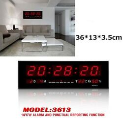 Digital Large Big Jumbo LED Wall Desk Alarm Clock With Calendar Temperature -US
