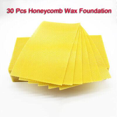 30pack Honeycomb Wax Beekeeping Equipment Beeswax Honey Sheets Tool Equipment Us