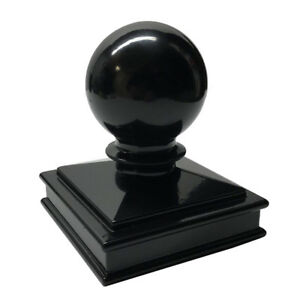 "3"" x 3"" Aluminium Ball Top Post Cap for Metal Posts- Black/White"