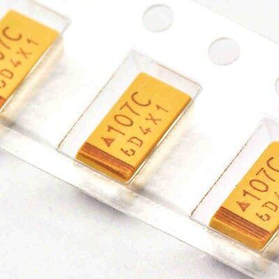 20pcs Tantalum Capacitors Smd 6032 16v 100uf C Type 10 Surface Mount New