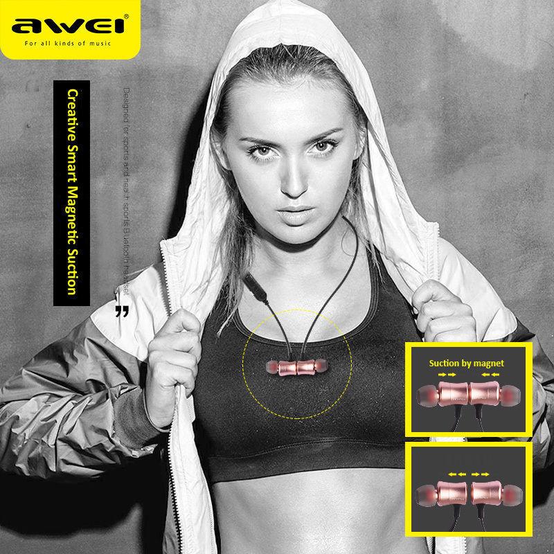 Awei A921BL Magnet Earphone Sport Wireless Bluetooth Headset