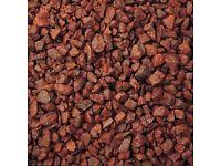 Bulk Builders Bag Red Flame Gravel - 850kg