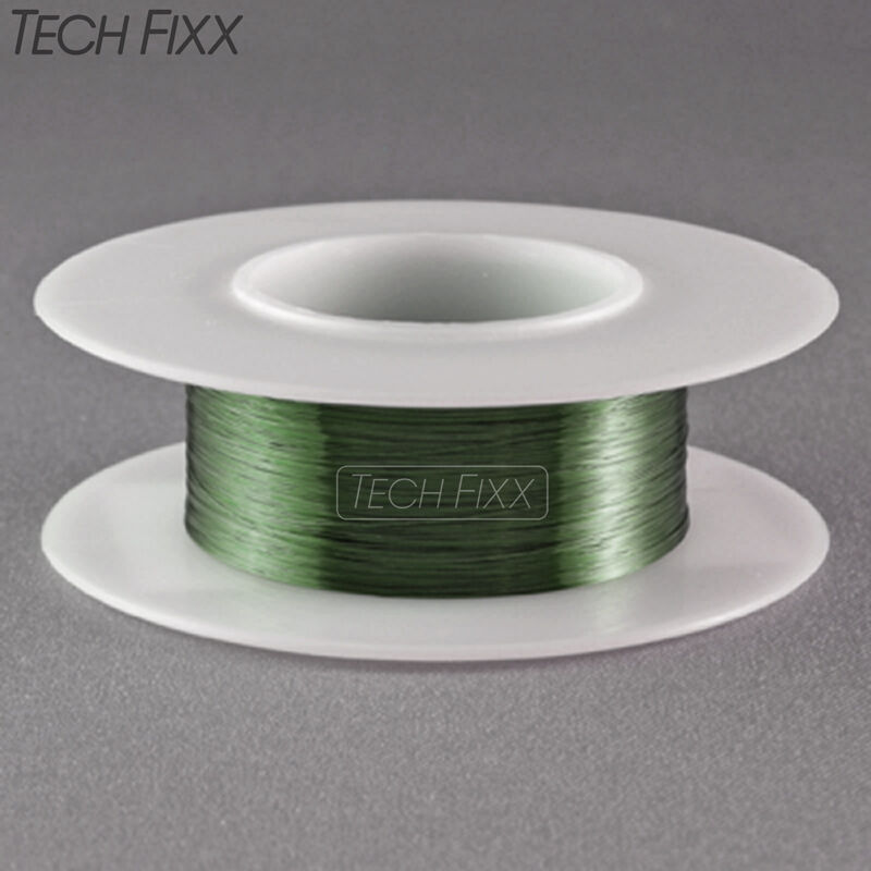 Magnet Wire 30 Gauge AWG Enameled Copper 200 Feet Coil Winding and Crafts Green