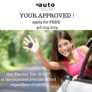 AUTO LOANS APPROVED REGARDLESS OF YOUR CREDIT