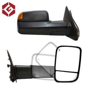 OEM Style Black Towing Mirror for 02-08 Dodge Ram 1500/2500/3500