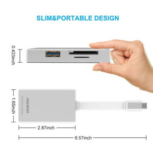 Brand New USB Type C Hub Adapter with Type C Charging Port