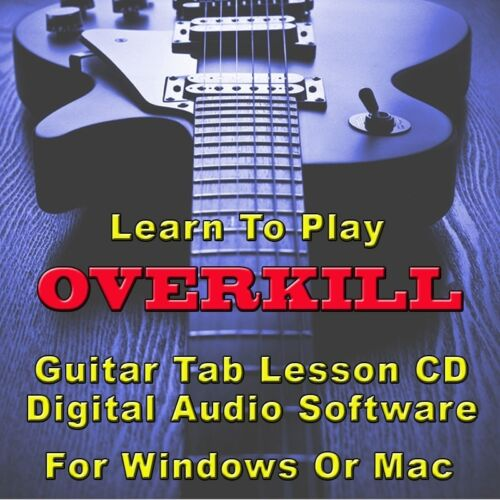 Overkill Guitar Tab Lesson Cd Software 51 Songs Ebay