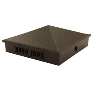 "Nuvo Iron 3.5""x3.5"" (Nominal 4""x4"") Pyramid Aluminium Post Cap"