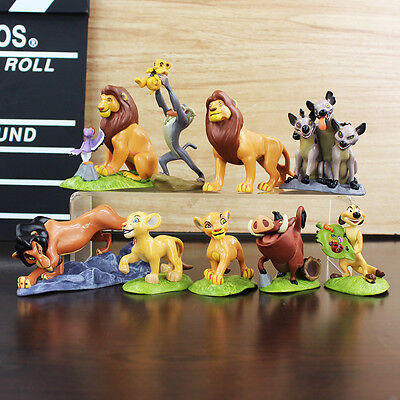 9PCS The Lion King Cake Topper Action Figures Doll Toys Simba For Kids Gift