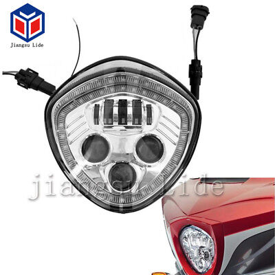 Chrome LED Headlight Angel Eyes Replace for Victory Cross Road/Country Cruiser