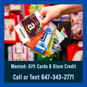Have any giftcards or store credit? Sell for 75-85% of value!