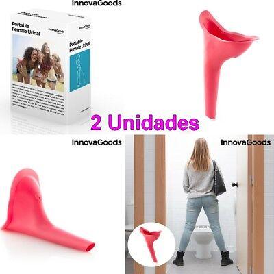 DAZISEN Orinales Urinario Portatil Urinario Femenino Emergencia Urinal para Viajes Camping para Ni/ños y Adultos