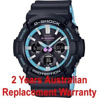 CASIO G-SHOCK SOLAR WATCH GAS100PC-1A BLACK x BLUE GAS-100PC-1ADR 2YEAR WARRANTY for sale  Shipping to Canada