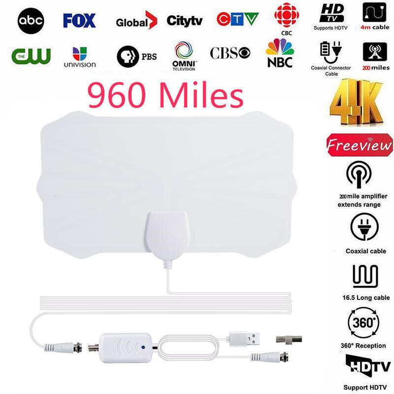 960 Mile Range Antenna TV Digital HDTV 1080p Skywire 4K HD Indoor Digital Antena