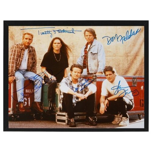 Rare The Eagles Band Signed Autographed By 5 Framed Photo Print