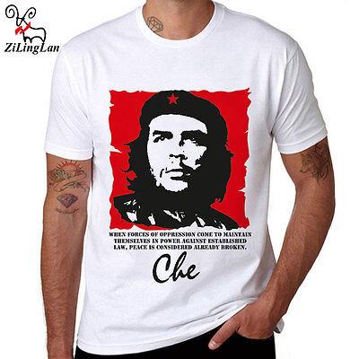 Cuba People Hero Che Guevara T Shirt Tops Tees Cotton Men T Shirts Mens