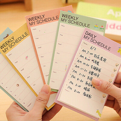 Weeklydaily Planner Sticker Sticky Notes Memo Pad Schedule Check List Jgca