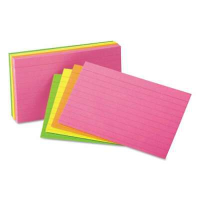 Universal Ruled Neon Glow Index Cards 4 X 6 Assorted 100pack 087547472378