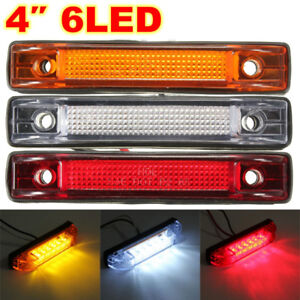 1x 4'' 6-LED Clearance Side Marker Light Indicator Lamp trailer