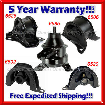 K158 Fit 1997-2001 HONDA CRV 2.0L ENGINE MOTOR & TRANS MOUNT SET 5PCS for AUTO 1997 2001 Honda Crv Auto