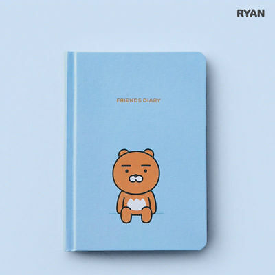 Kakao Friends Official Goods 2021 New Year Art Work Diary Ryan Sky Blue