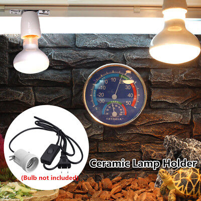Aquarium Reptile Light Holder Ceramic Infrared Emitter Heat Lamp Stand Socket