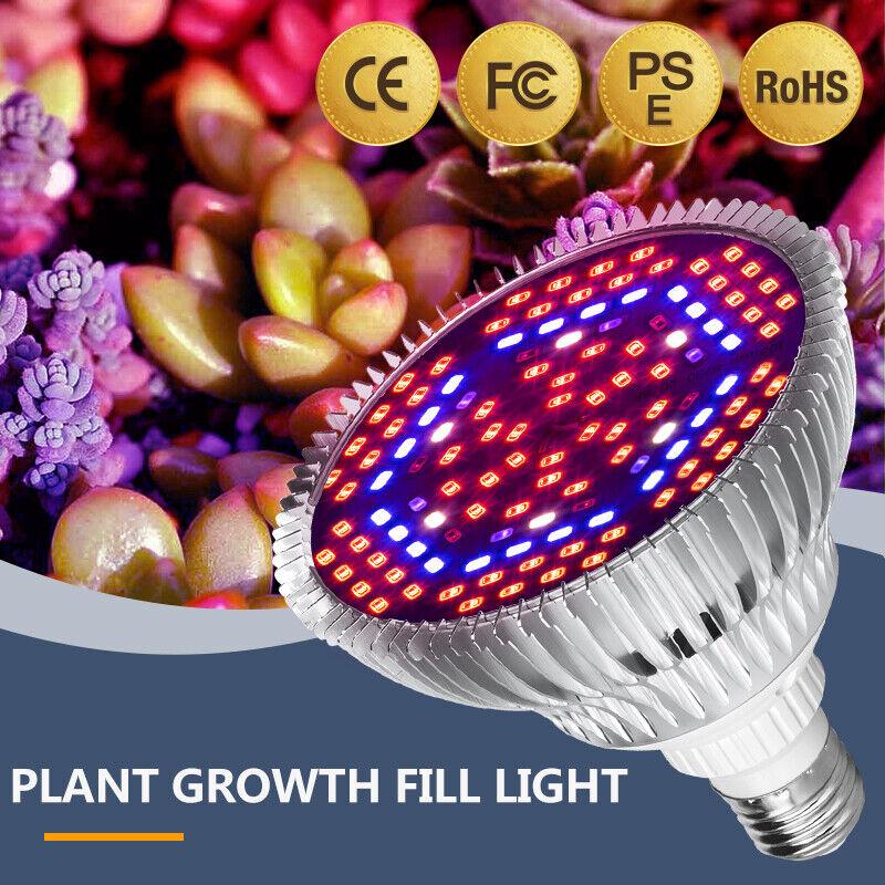 18W~80W Full Spectrum E27 LED Grow Light Bulb Lamp for Veg Bloom Indoor Plant US