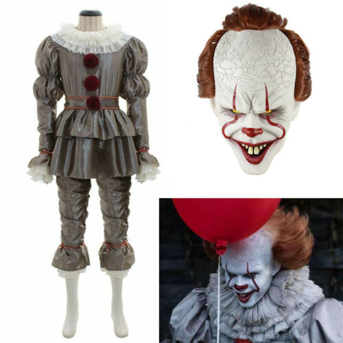 New Pennywise Cosplay Clown Costume Customized Halloween Cos Play Suit Zsell