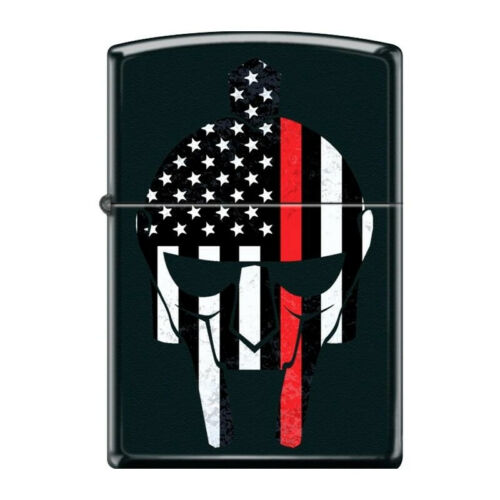 Zippo Lighter - Thin Red Line Warrior Matte Black - 854885