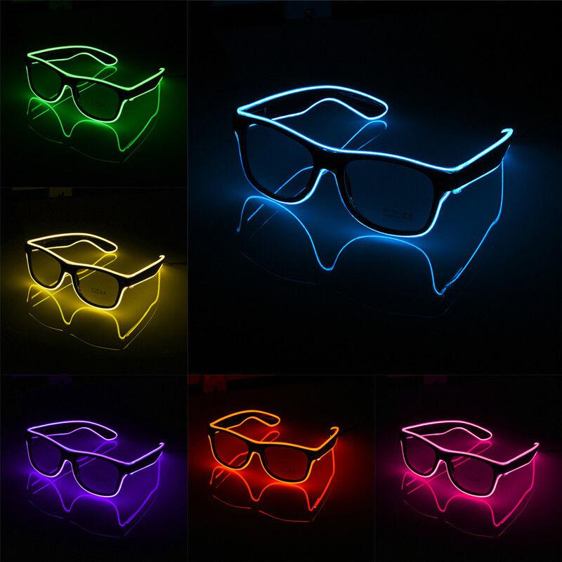 Luminous EL Neon LED Gläser Blinkt Blink Brille Spaß Party DJ Requisiten Heißer