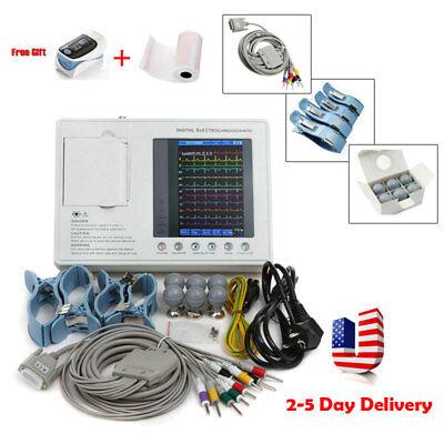 Digital 12-lead 3-channel Electrocardiograph Ecgekg Machine W Interpretation A