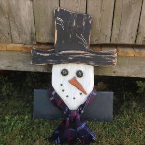 Primitive Scarecrow Snowman