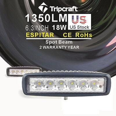 2X 18W Spot Beam LED Light Work Bar Lamp Driving Fog Offroad SUV Car Boat Truck