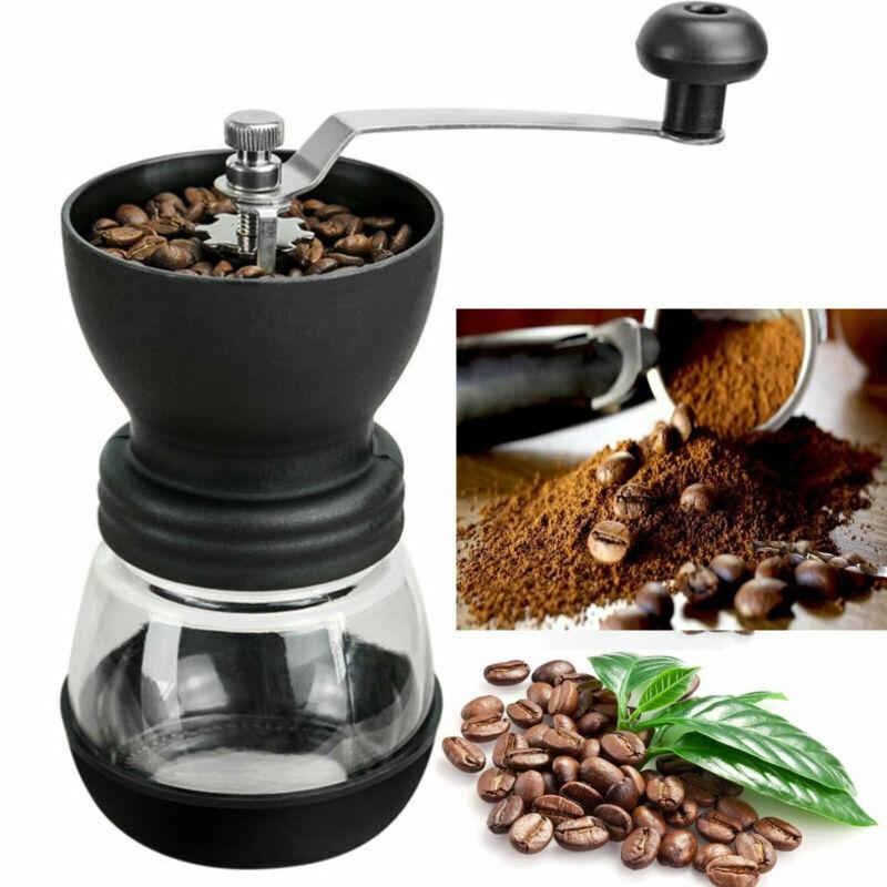 Kaffeemühle Edelstahl Keramikmahlwerk Handkaffeemühle manuelle Mühle Kaffee DHL