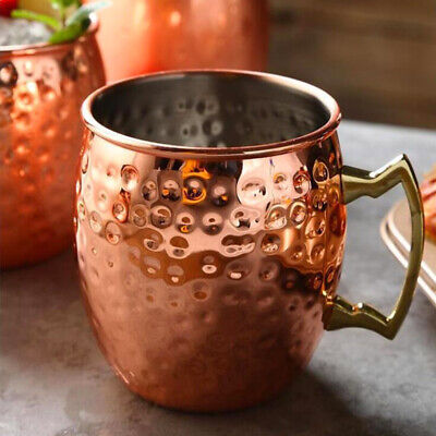 1-4 PCS Hammered Moscow Mule Mug Drinking Cup Stainless Steel Brass Copper Mug Copper Stainless Steel Mug