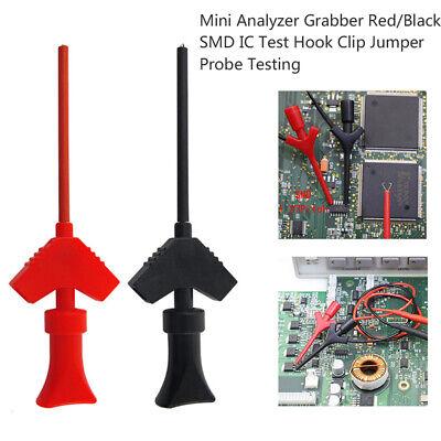1pair Test Clip Mini Grabber Smd Ic Hook Probe Jumper