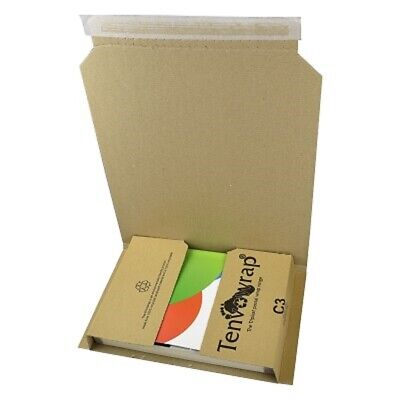 5 x BRAND NEW C3 BOOK WRAP CARDBOARD POSTAL BOXES 311x240x50mm / HIGH QUALITY
