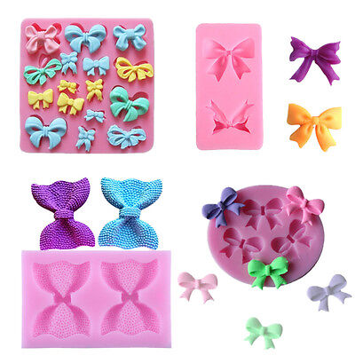 Silicone Cake Mold Butterfly Bow-Knot Design Fondant cake Decorating Mould Tools - Fondant Bow