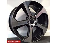 "17"" 5-100 GTi 7 Style Alloy wheels & Tyres Golf MK4, Polo, Audi A1"