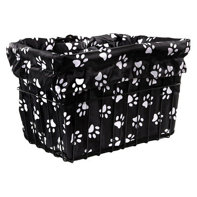Cruiser Candy Reversible Bike Basket Liner Std Animal 14 Dog Paw