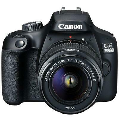 Canon EOS 2000D / Rebel T7 24.1MP CMOS 1080p DSLR Camera + EF-S 18-55mm Lens
