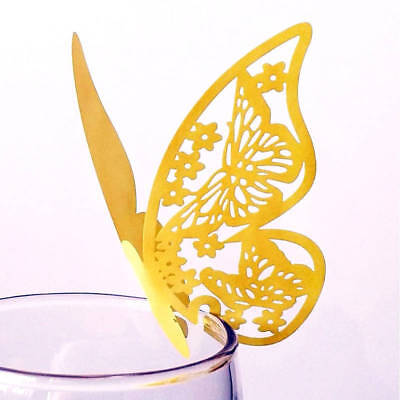 10pcs Laser Cut Paper Butterfly Wine Glass Card Wedding Table Name Place Cards](Wedding Placecards)