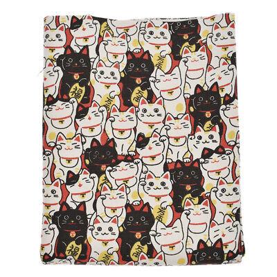 Maneki Neko Japanese Lucky Cat Print Fabric DIY Bag Sew Craft Costume - Cat Diy Costume