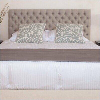 Bowery Hill Adjustable Full Queen Tufted Panel Headboard in